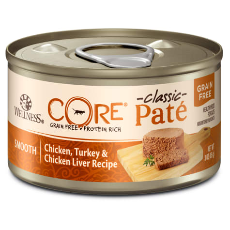 Wellness CORE Natural Grain Free Chicken, Turkey & Chicken Liver Pate Wet Cat Food