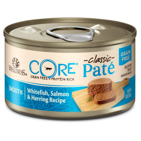Wellness CORE Natural Grain Free Whitefish Salmon & Herring Pate Wet Canned Cat Food