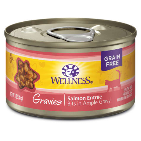 Wellness Complete Health Natural Canned Grain Free Gravies Salmon Dinner Wet Cat Food