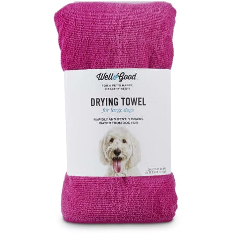 Well & Good Pink Drying Towel for Dogs