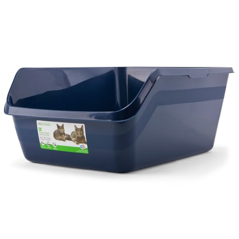 So Phresh Scatter Shield High-Back Litter Box in Navy