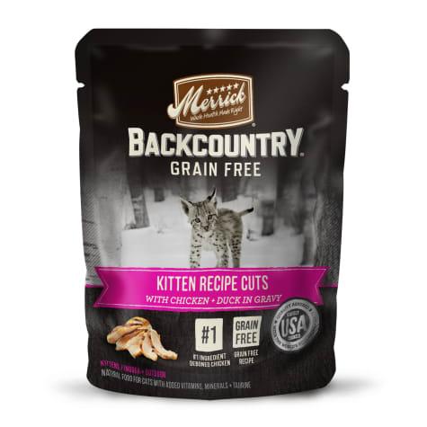 Merrick Backcountry Grain Free Kitten Recipe Cuts Wet Cat Food