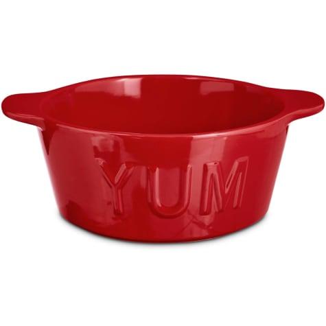 Harmony Red YUM Ceramic Dog Bowl