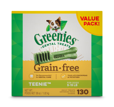 Greenies Grain Free Teenie Natural Oral Health Dog Dental Care Chews