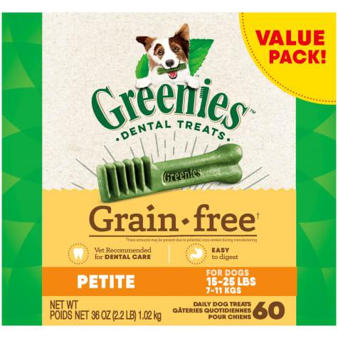 Greenies Grain Free Petite Natural Oral Health Dog Dental Care Chews