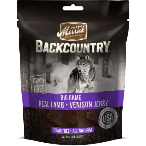 Merrick Backcountry Big Game Real Lamb + Venison Jerky Grain Free Dog Treats