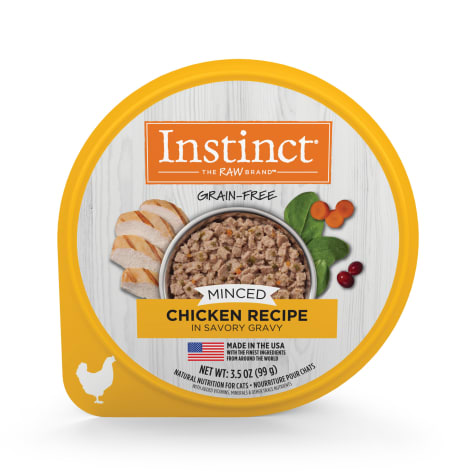 Instinct Grain-Free Minced Recipe with Real Chicken Wet Cat Food Cups