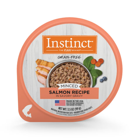 Instinct Grain Free Minced Recipe with Real Salmon Natural Wet Cat Food by Nature's Variety