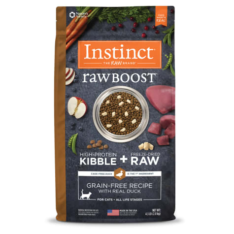 Instinct Raw Boost Grain-Free Recipe with Real Duck Dry Cat Food with Freeze-Dried Raw Pieces