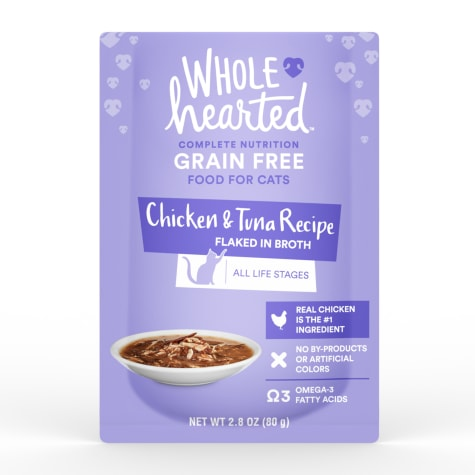 WholeHearted Grain Free Chicken & Tuna Recipe Flaked in Broth Wet Cat Food