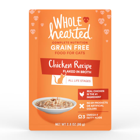 WholeHearted Grain Free Chicken Recipe Flaked in Broth Wet Cat Food