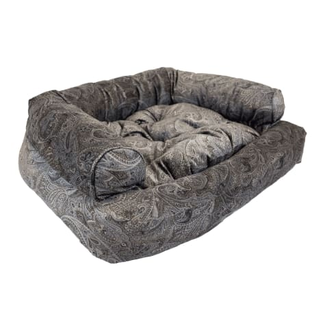 Snoozer Luxury Overstuffed Pet Sofa in Laurel Mocha