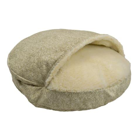 Snoozer Orthopedic Premium Micro Suede Cozy Cave Pet Bed in Palmer Citron