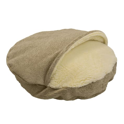 Snoozer Orthopedic Premium Micro Suede Cozy Cave Pet Bed in Piston Sand