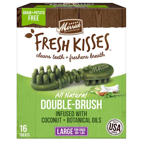 Merrick Fresh Kisses Coconut Oil + Botanicals Large Brush Dental Dog Treats