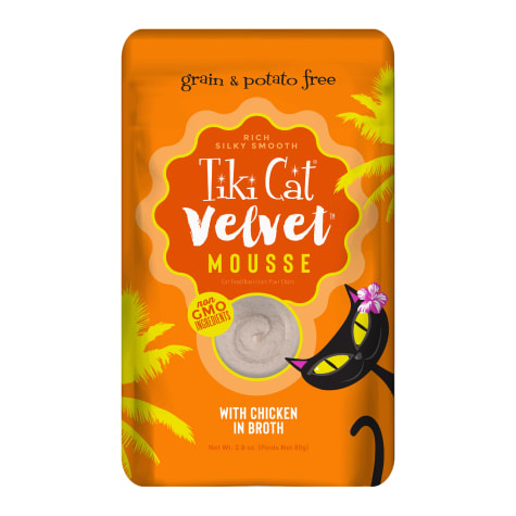 Tiki Cat Velvet Mousse Chicken Wet Cat Food Pouch