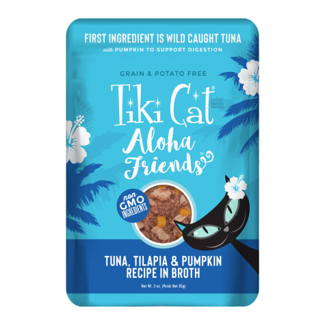 Tiki Cat Aloha Friends Tuna Tilapia & Pumpkin Wet Cat Food Pouch