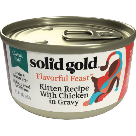 Solid Gold Flavorful Feast Kitten Recipe With Chicken in Gravy Holistic Grain Free Canned Cat Food