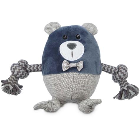 Leaps & Bounds Wildlife Plush and Rope Bear Dog Toy