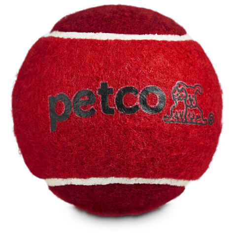 Petco Tennis Ball Dog Toy in Red