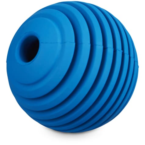 Leaps & Bounds Ribbed Rubber Ball Dog Toy in Assorted Colors