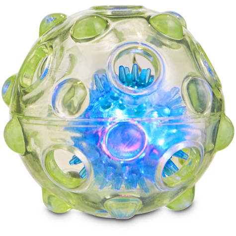 Leaps & Bounds Chomp and Chew Light Up Ball Dog Toy