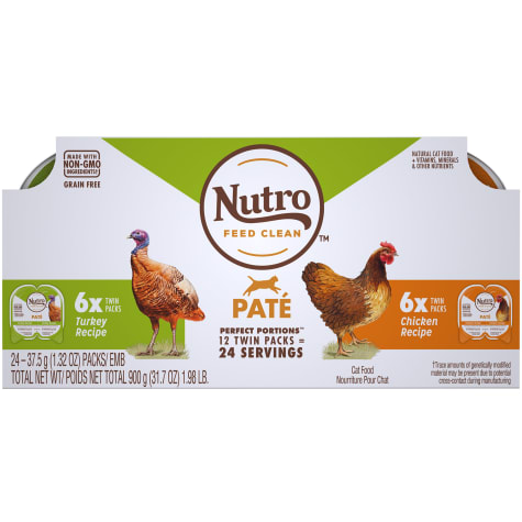 Nutro Perfect Portions Pate Multi-Pack Real Chicken & Turkey Wet Cat Food