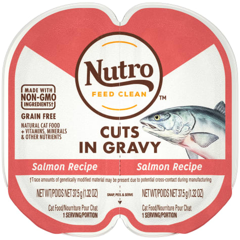 Nutro Perfect Portions Cuts in Gravy Real Salmon Wet Cat Food