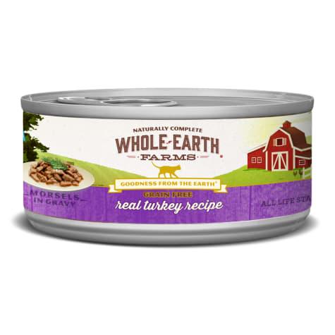 Whole Earth Farms Grain Free Real Morsels in Gravy Turkey Cat Wet Food