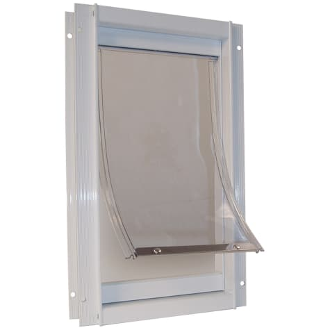 Perfect Pet Deluxe Aluminum Pet Door in White