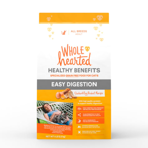 WholeHearted Healthy Digestion Chicken and Egg Product Recipe Dry Cat Food