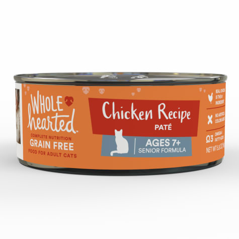 WholeHearted Grain Free Chicken Recipe Pate Senior Wet Cat Food