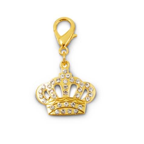 Bond & Co. Jeweled Crown Dog Collar Charm