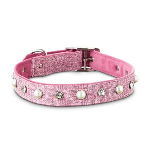 Bond & Co. Glitz and Glamor Pink Tweed Dog Collar
