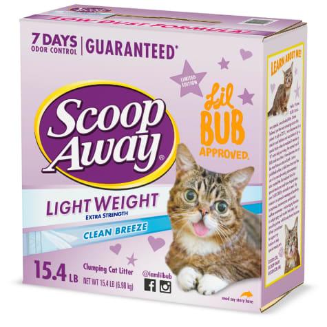 Scoop Away Clean Breeze Scented Lightweight Extra Strength Clumping Cat Litter