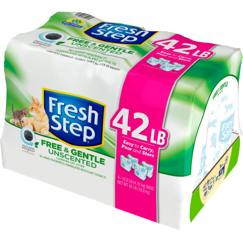 Fresh Step Free & Gentle Unscented Clumping Cat Litter
