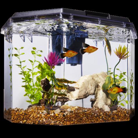 Imagitarium Semi-Hexagonal Aquarium Kit, 6.7 GAL
