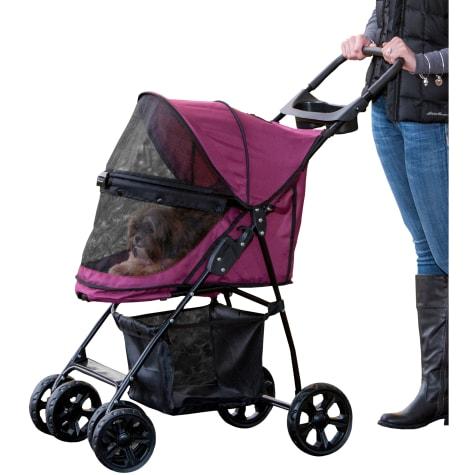 Pet Gear Happy Trails Lite No-Zip Pet Stroller in Boysenberry