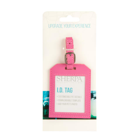 Sherpa Luggage Tag Pink