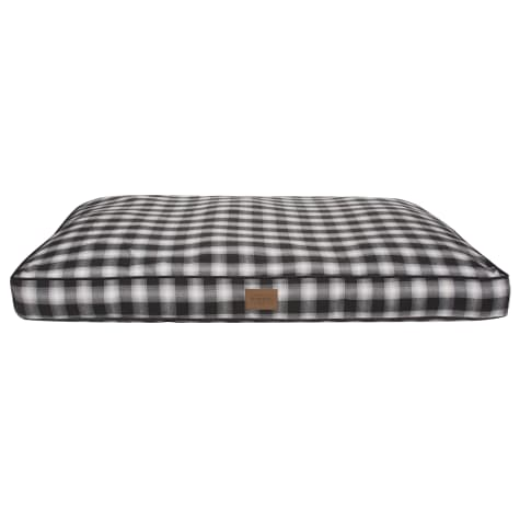 Pendleton Plaid Pet Bed in Charcoal Ombre