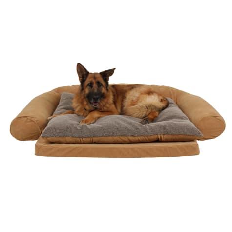 Carolina Pet Ortho Sleeper Comfort Couch in Caramel