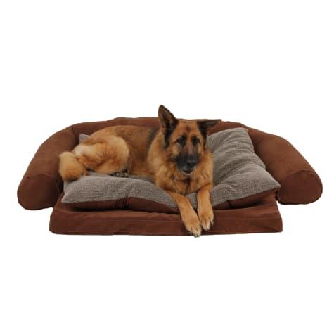 Carolina Pet Ortho Sleeper Comfort Couch in Chocolate
