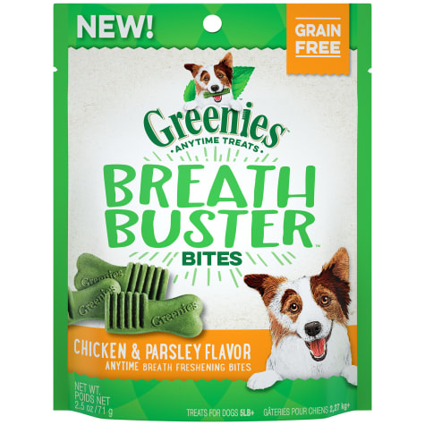 GREENIES BREATH BUSTER Bites Chicken & Parsley Flavor Treats for Dogs