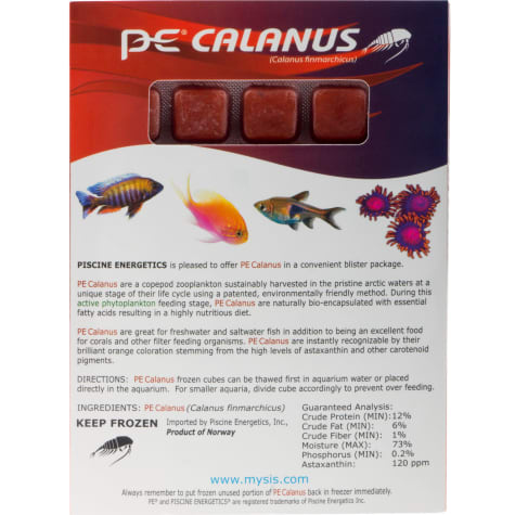 Piscine Energetics Frozen PE Calanus Blister Pack