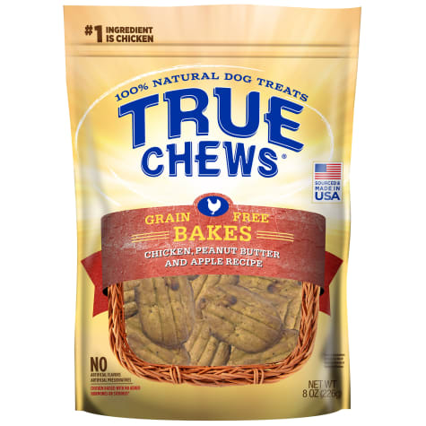 True Chews Grain Free Bakes Chicken Peanut Butter & Apple Recipe Dog Treats