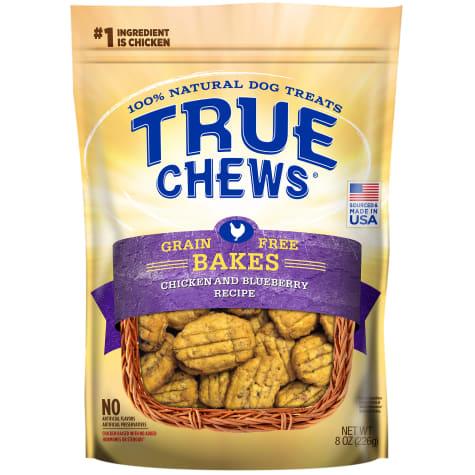 True Chews Grain Free Bakes Chicken & Blueberry Recipe Dog Treats