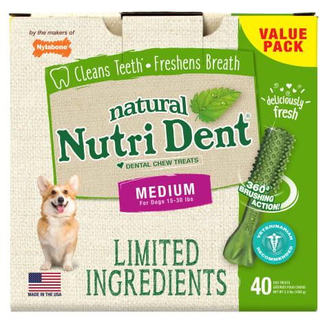 Nylabone Nutri Dent Limited Ingredients Medium Fresh Breath Dental Chews