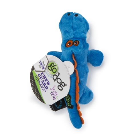 Godog Gators With Chew Guard Technology Plush Squeaker Dog Toy Blue