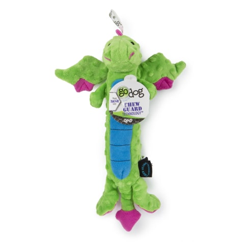 goDog Dragons Skinny Green Large With Chew Guard Blue