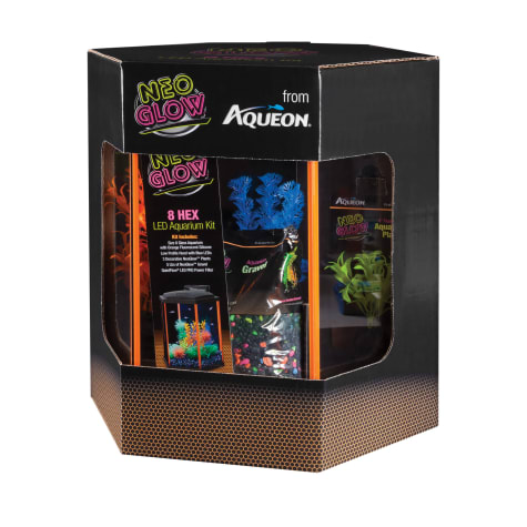 Aqueon Aquarium Kit Orange NeoGlow
